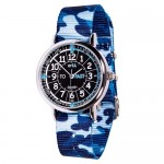 Watch - EasyRead Time Teacher - Black Face - Blue Camo Strap
