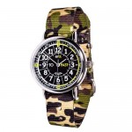 Watch - EasyRead Time Teacher - Black Face - Green Camo Strap
