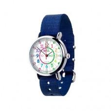 Watch - EasyRead Time Teacher - Rainbow Face - Navy Blue Strap