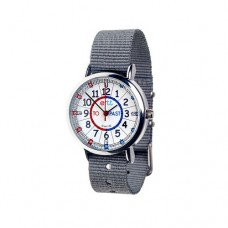 Watch - EasyRead Time Teacher - Red/Blue Face - Grey Strap
