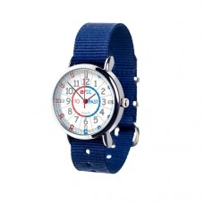 Watch - EasyRead Time Teacher - Waterproof - Red/Blue Face - Navy Blue Strap