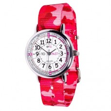 Watch - EasyRead Time Teacher -  White Face - Pink Camo Strap