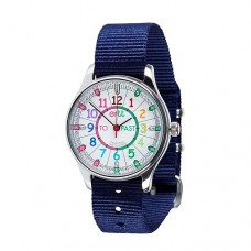 Watch - EasyRead Time Teacher - Waterproof - Rainbow Face - Navy Blue Strap