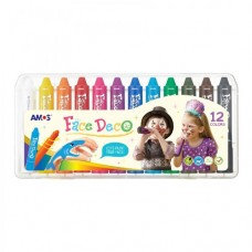 Face Deco - Face Paint Crayons - 12 pack
