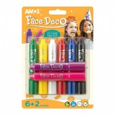 Face Deco - Face Paint Crayons - 8 pack