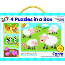 Farm Puzzles - 4 in a Box - Galt