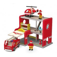 Fire Station with Accessories - Viga Toys