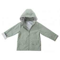 Raincoat Khaki/ Pin Stripe Lining - Size 3 - 4 - French Soda