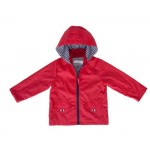 Raincoat Deep Red/Navy Pin Stripe Lining - Size 1 - 2 - French Soda