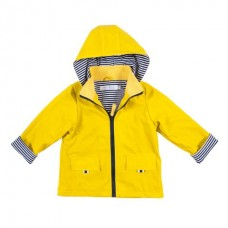 Raincoat Yellow/Navy Pin Stripe Lining - Size 1- 2 - French Soda