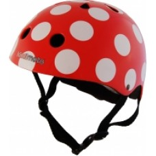 Helmet - Red Dotty - Kiddimoto