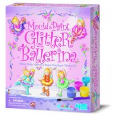 Mould & Paint Glitter Ballerina - 4M Craft Kit