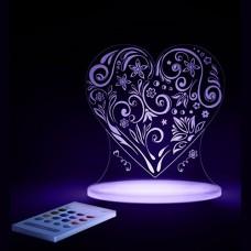 Nightlight LED USB - Heart