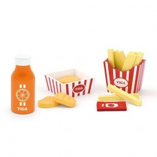 Nuggets, Chips & Orange Juice Role Play - Viga Toys