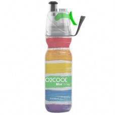 O2Cool Mist n Sip Arctic Squeeze Drink Bottle - Rainbow Stripes