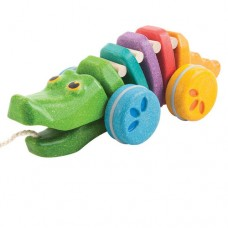 Pull Along Dancing Rainbow Alligator - Plan Toys