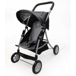 Pram Dolls -  Junior Stroller Black & White