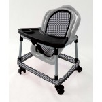 Dolls Push About Walker Chair - Black & White