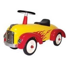 Speedster Pushcar - Yellow Flame