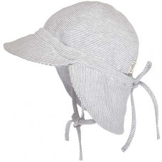 Hat Toshi - Flap Cap - Grey Stripe
