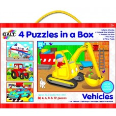 Vehicle Puzzles - 4 in a Box - Galt