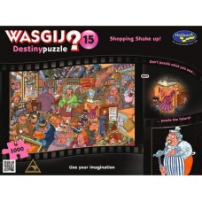 1000 pc Wasgij Puzzle Destiny #15  Shopping Shake Up INCLUDES FREE PUZZLE-A-ROUND