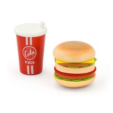 Hamburger & Coke Wooden Role Play - Viga Toys