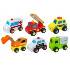 Cars - Set of 6 Wooden Cars