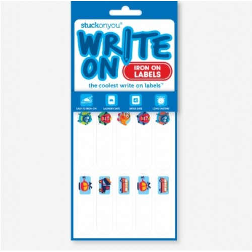 Boys Premium Name Labels: Write On Name Labels