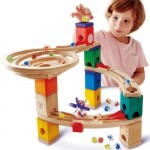 Quadrilla Race to the Finish Marble Run 28 Pce - Hape