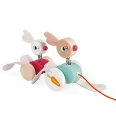 Pull Along Rabbits - Janod