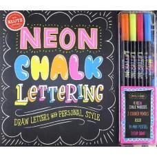 Neon Chalk Lettering - Klutz