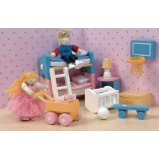 Dolls House Furniture - Sugar Plum Children's Room - Le Toy Van
