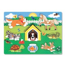 8 pc Melissa & Doug - Pets Pin Puzzle