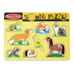 8 pc Melissa & Doug - Pets Sound Pin Puzzle