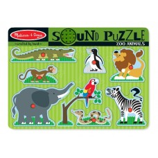 8 pc Melissa & Doug - Zoo Animals Sound Pin Puzzle