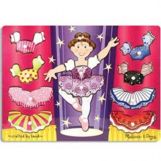 10 pc Melissa & Doug - Ballerina Dress-Up Pin Puzzle