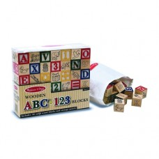 Blocks ABC 123 Wooden - Melissa & Doug
