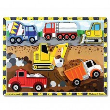 6 pc Melissa & Doug - Construction Chunky Puzzle