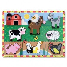8 pc Melissa & Doug - Farm Chunky Puzzle