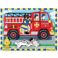 18 pc Melissa & Doug - Fire Truck Chunky Puzzle
