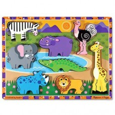 8 pc Melissa & Doug - Safari Chunky Puzzle