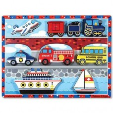 8 pc Melissa & Doug - Vehicles Chunky Puzzle