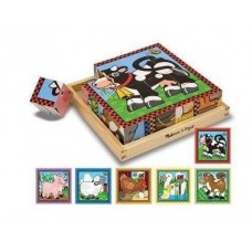 Cube Puzzle Wooden 16pc - Farm Animals - Melissa & Doug