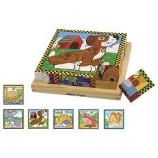 Cube Puzzle Wooden 16pc - Pets - Melissa & Doug