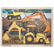 24 pc Melissa & Doug Wooden Puzzle - Diggers at Work