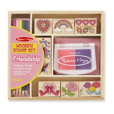 Stamp Set - Friendship - Melissa & Doug BONUS Drawing Pad