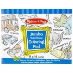 Jumbo Colouring Pad Blue - Melissa & Doug