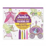 Jumbo Colouring Pad Princess & Fairies - Melissa & Doug