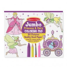 Jumbo Colouring Pad Princess & Fairy - Melissa & Doug